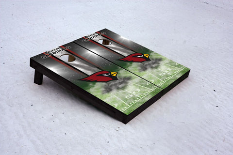 Cardinals football themed Custom Cornhole Border Set with 8 Cornhole Bags.