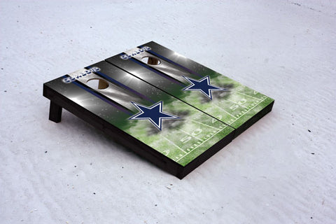 Cowboys football themed Custom Cornhole Border Set with 8 Cornhole Bags.