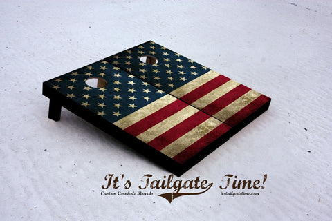 American Flag Stars and Stripes. Custom Cornhole Boards