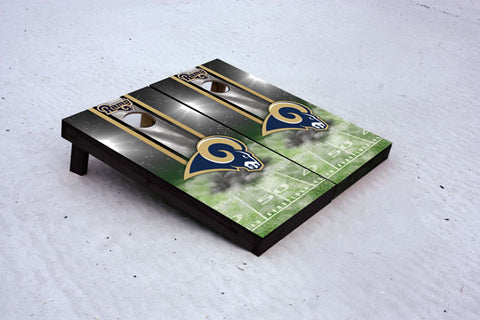 Rams football themed Custom Cornhole Border Set with 8 Cornhole Bags.