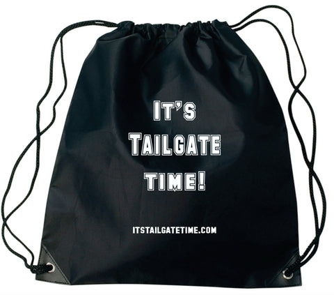 Its Tailgate Time! Drawstring carrying bag.