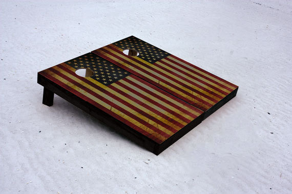 American Flag. Custom Cornhole Boards with 1x4 Frames.