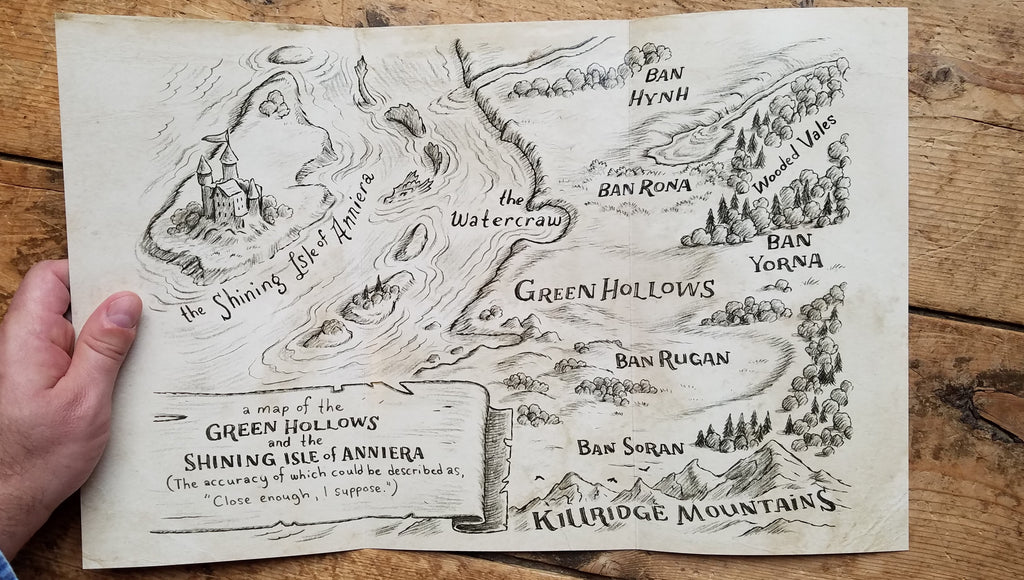 Foldable Map of Green Hollows (11x17)
