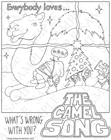 Slugs & Bugs Christmas Coloring Pages