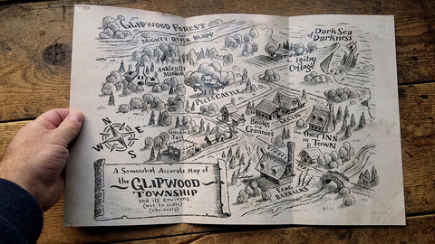 "Foldable Map of Glipwood (11""x17"")"