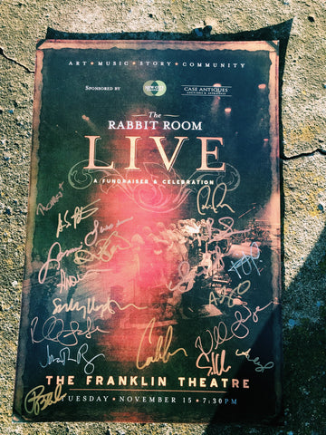 Autographed Rabbit Room LIVE Poster