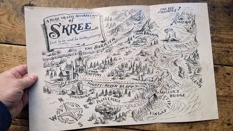 Foldable Map of Skree (11x17)