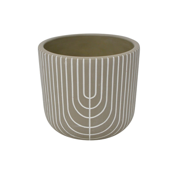 Grey and White Art Deco Planter