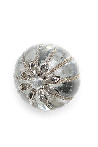 Glass Silver Flower