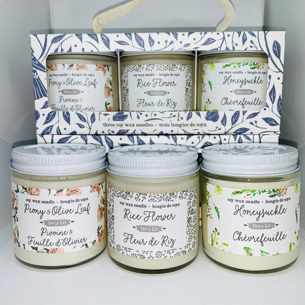 Three Candle Gift Set