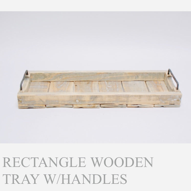 Rectangle Wooden Tray with Handle