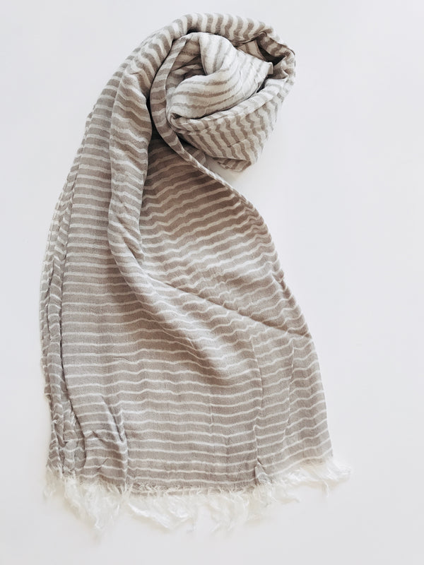 Striped Summer Scarf
