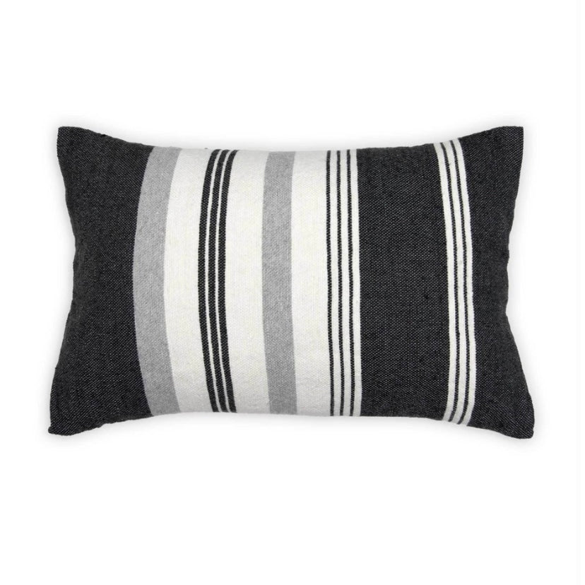Moroccan Pillow Thick & Thin Stripe