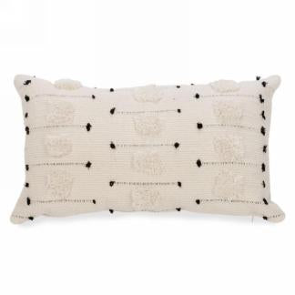 Black Cream Tufted Pillow