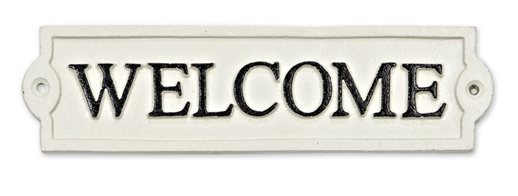 Plaque - Welcome Sign Rectangle