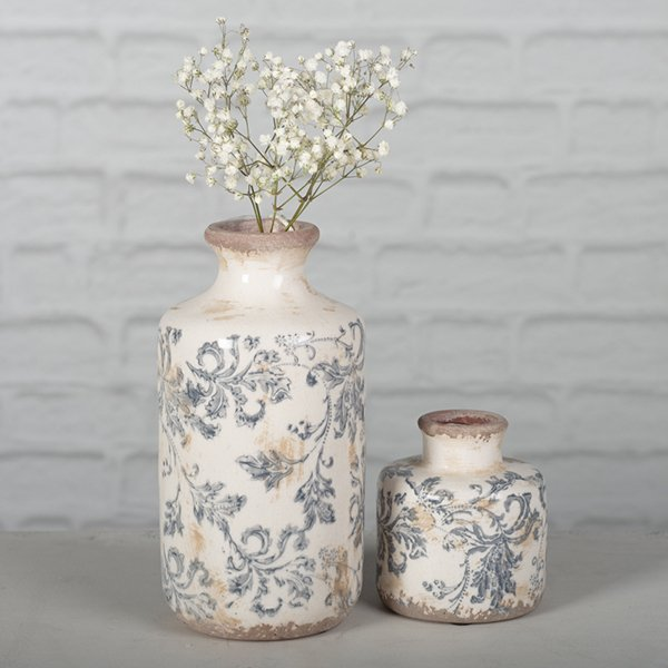 Glazed Ceramic Floral Vase planter (2 Sizes)