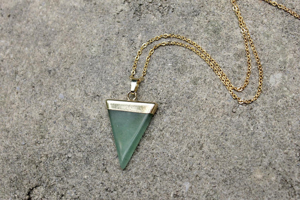 Triangle Gemstone Necklace (2 Styles)