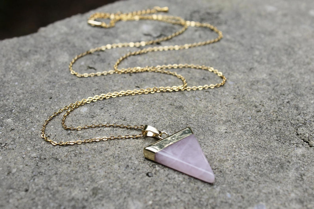 Triangle Gemstone Necklace (3 Styles)