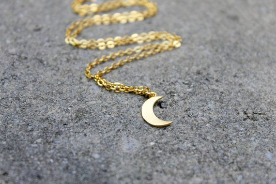 Tiny Moon Necklace