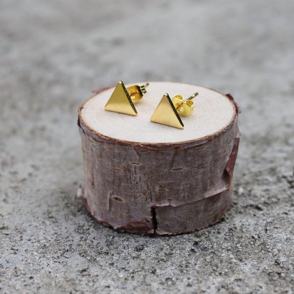 Gold or Silver Triangle Earrings