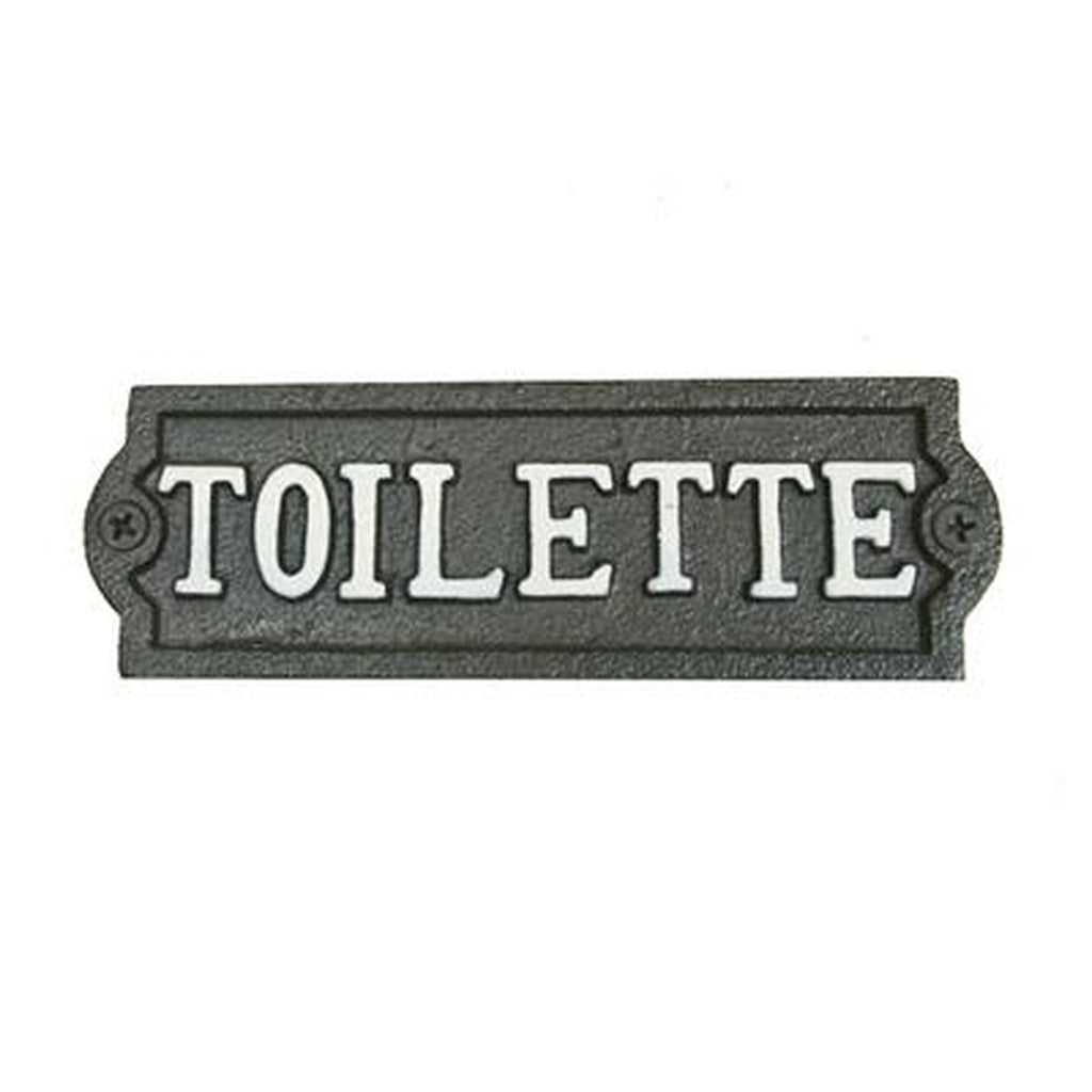 Toilette Plaque