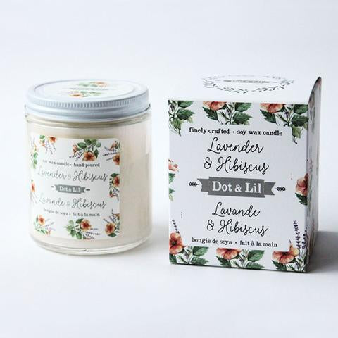 Lavender & Hibiscus Soy Candle