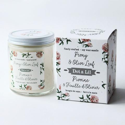 Peony & Olive Oil Soy Candle