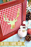 Fabric in frame oh deer