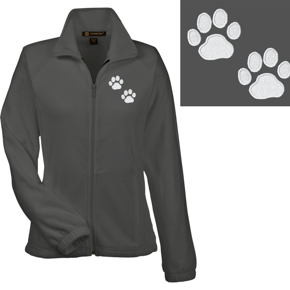 Women's Paw Print Fleece Jacket