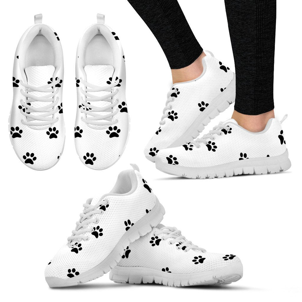 Sneakers - Women's Paw Prints Sneakers
