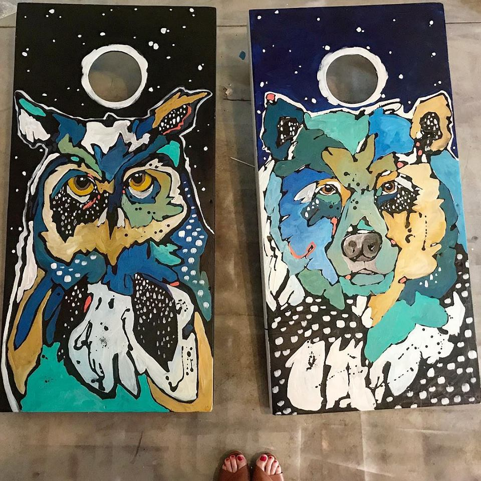 Cornhole Board Makeover