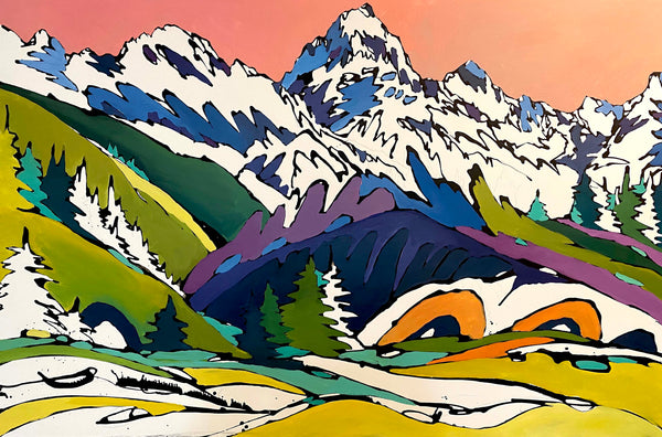 Unfinished Teton Piece