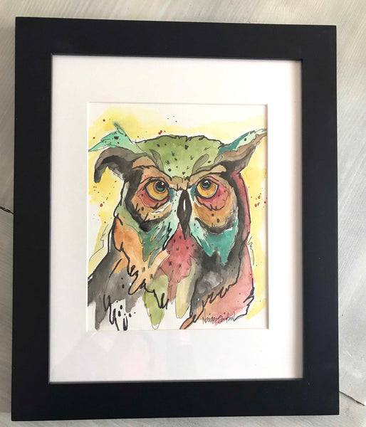 Watercolor Owl #1
