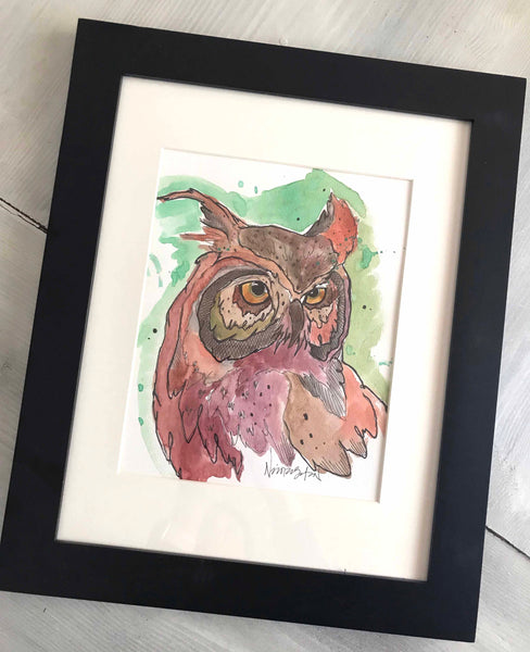 Watercolor Owl #2