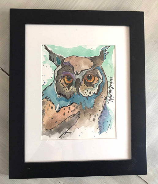 Watercolor Owl #3