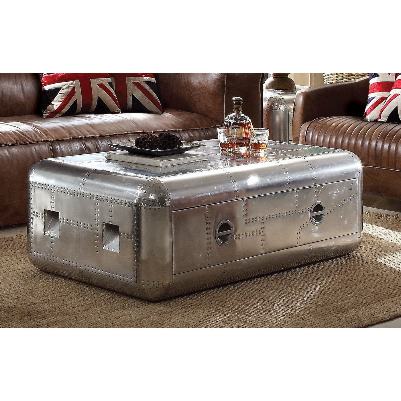 ACME BRANCASTER MODERN ALUMINUM COFFEE TABLE – G CREW DESIGNS