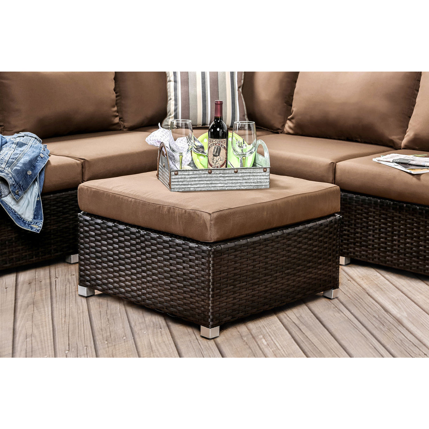 ABION PATIO SECTIONAL SET | CM OS1821BR BROWN