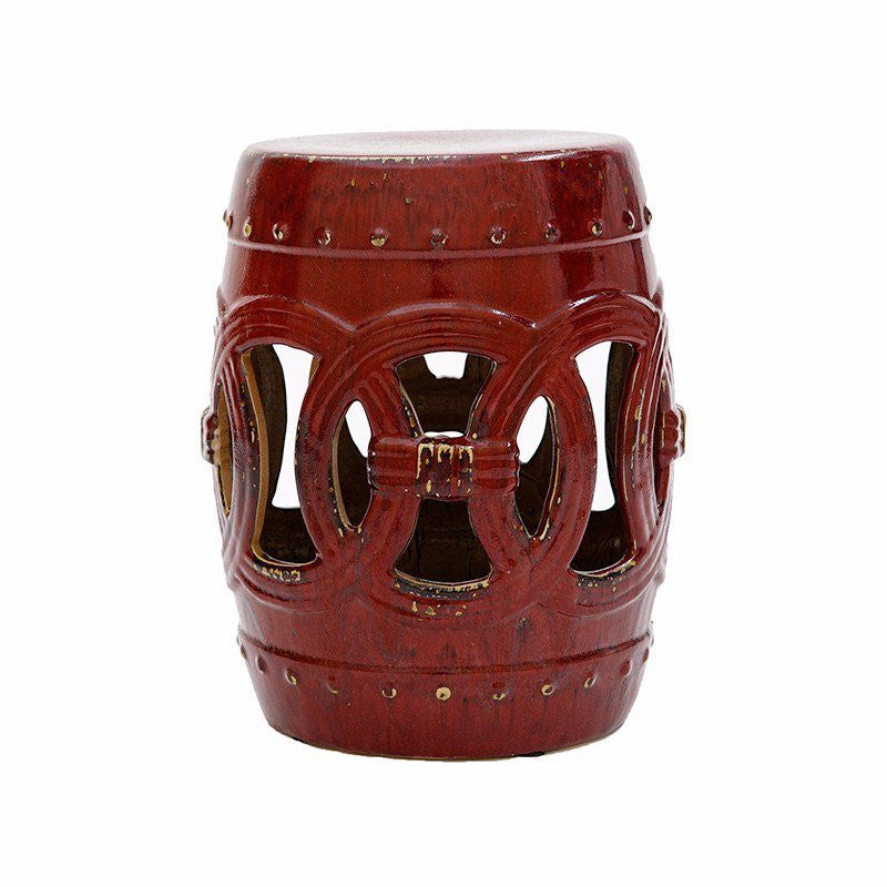 Moroccan Red Ceramic Garden Stool  sc 1 st  G Crew Designs : red garden stool ceramic - islam-shia.org