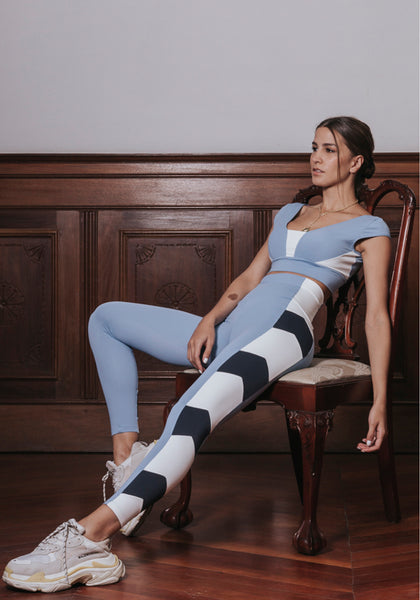 Arrow Legging Light Blue / White / Black