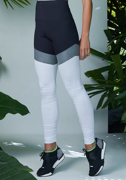 Chloe Legging Black / Wet Silver / White