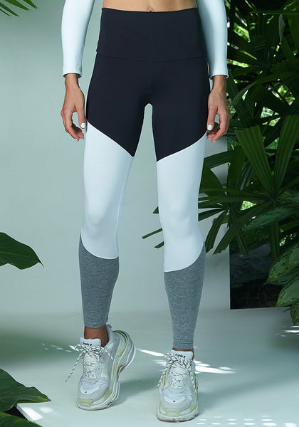 Christi Legging Black / White / Coin Grey