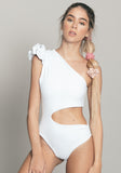 Elle Leotard White