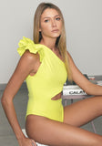 Elle Leotard Yellow