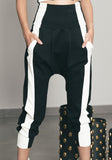 Stripe Jazmin Pants Black / White