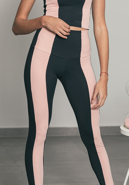 Stripe Legging Black / Petit Rosé