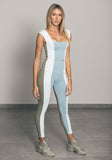 Stripe Legging Light Blue / Grey / White