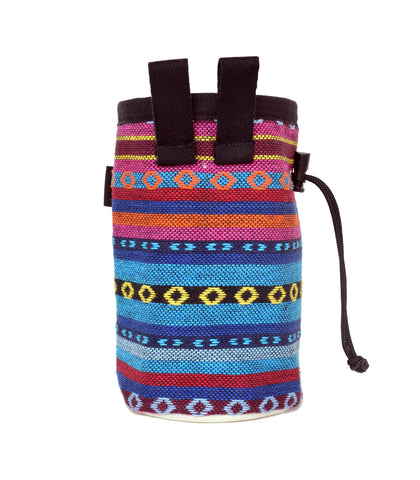 Blue Tribal Chalk Bag with Belt