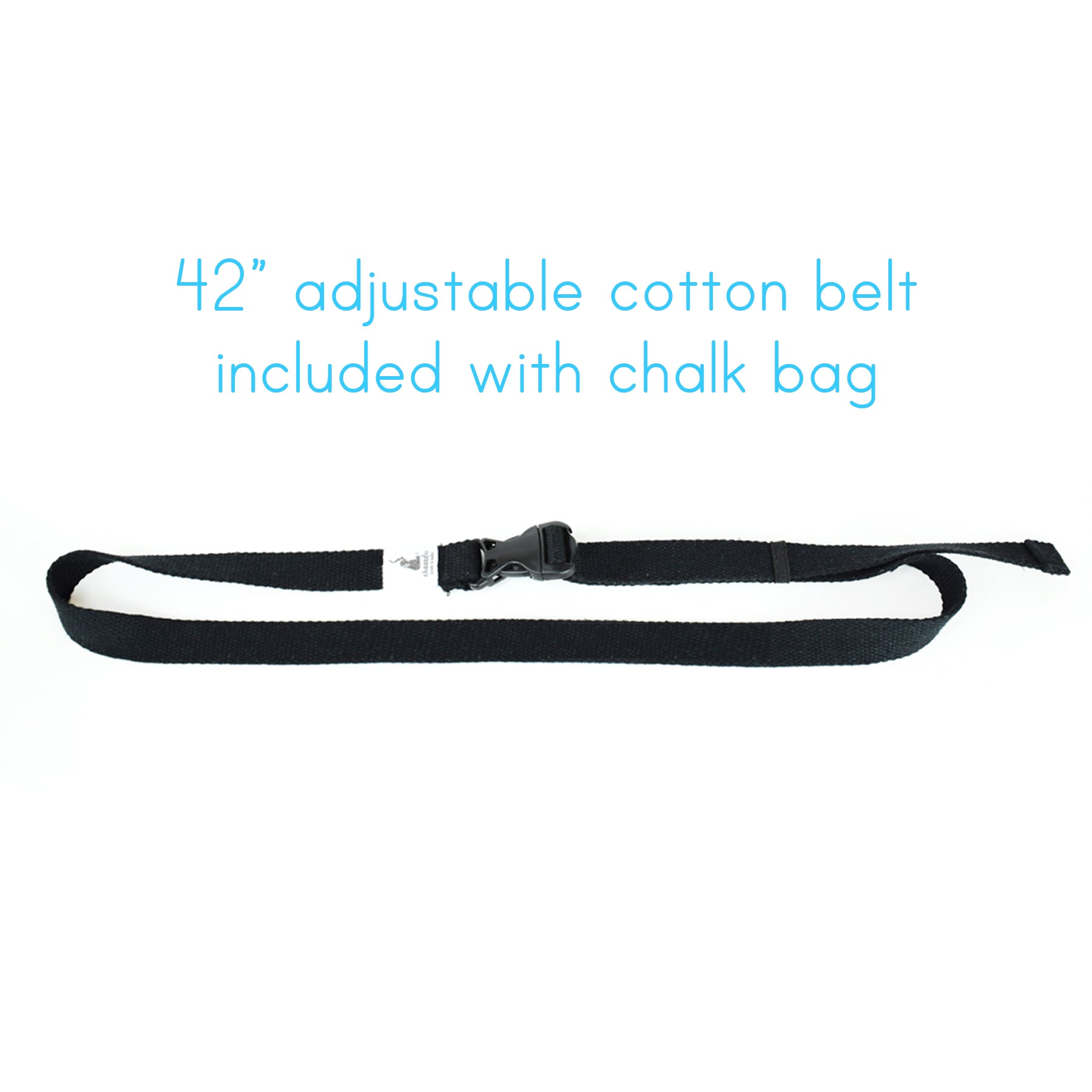 Gray Ecuador Chalk Bag with Belt