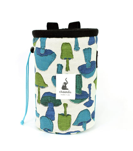 Cream Organic Mushroom Chalk Bag with Belt