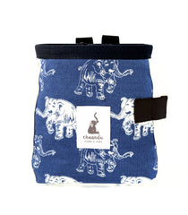 Indigo Laughing Elephant Chalk Bag with Belt